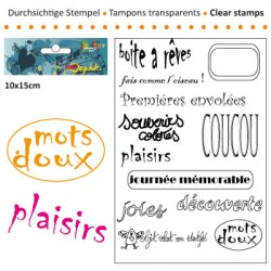 (3609-002)Clear stamp 10x15cm boite a reves