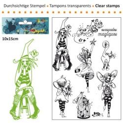 (3609-004)Clear stamp 10x15cm escapades magiques