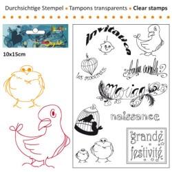 (3609-005)Clear stamp 10x15cm grandes festivites