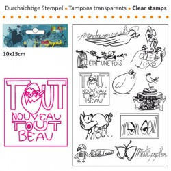(3609-008)Clear stamp 10x15cm minute papillon
