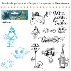 (3609-009)Clear stamp 10x15cm premier vol