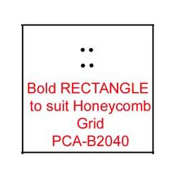 (PCA-B2040)Bold RECTANGLE to fit H/Comb grid
