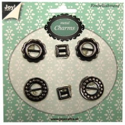 (6350/0307)Metal Charms Antique silver