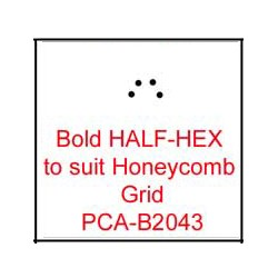 (PCA-B2043)Bold HALF-HEX to fit H/Comb grid