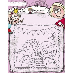 (AUCS1012)Aurelie Betje Birthday Cardmaking Clear Stamp