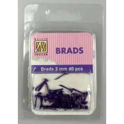 (FLP-BR009)Nellie`s Choice Floral brads purple 40 PC 3m
