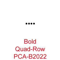 (PCA-B2022)Bold Quad Row