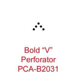 "(B2031)Bold ""V"" Perforator"