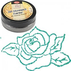 (1193.909.36)Viva Decor - 3D Stamp Paint - Turquoise-Metallic
