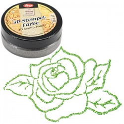(1193.913.36)Viva Decor - 3D Stamp Paint - Grass Green-Metallic