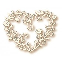 (SD0039)Wild Rose Studio`s Specialty die - Heart Rose Vine