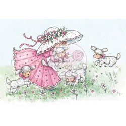 (CL291)stamp A7 set Annabelle with Lambs
