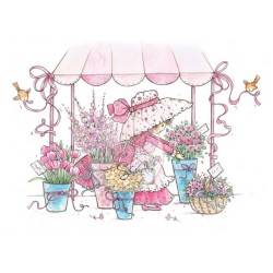 (CL288)stamp A7 set Annabelle with Flowers