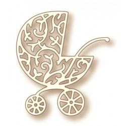(SD0040)Wild Rose Studio`s Specialty die - Ornate Pram