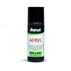 (DA0350080100)Darwi Acryl Brillant 80 ml Black