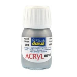 (DA0230030080)Darwi Acryl Metal 30 ml Silver