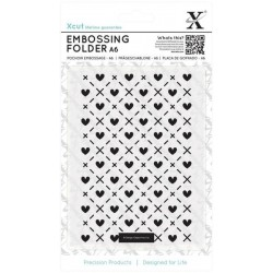 (XCU515159)Xpress embossing folder A6 Hearts and Kisses