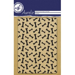 (AUCS1009)Aurelie Dog Bones Background Clear Stamp