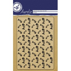(AUCS1008)Aurelie Fish Bones Background Clear Stamp