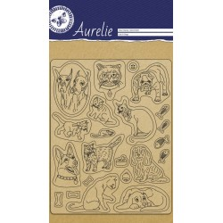 (AUCS1005)Aurelie Cats & Dogs Clear Stamps