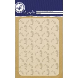 (AUEF1019)Aurelie Fish Bones Background Embossing Folder