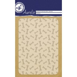 (AUEF1020)Aurelie Dog Bones Background Embossing Folder