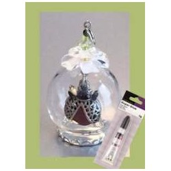 (12359-5906)Glass domes set 6 - lady bug