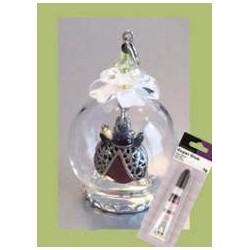 (12359-5906)Glass domes set 6 - lady bug
