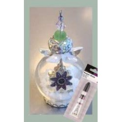(12359-5908)Glass domes set 8 - fairy tale flower