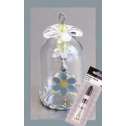 (12359-5910)Glass domes set 10 - forget me not