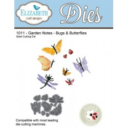 (SKU1011)Elizabeth Craft Design Die Garden Notes - Buds&Butterfl