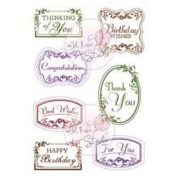 (CL302)stamp A7 set Vintage Labels