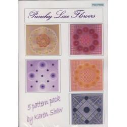 (PCA-P5402)Punchy Lace Flowers
