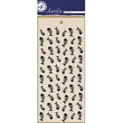(AUMS1001)Aurelie Fish Bones Masking Stencil