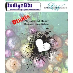 (IND0145PC)IndigoBlu Splattered Heart A7 Rubber Stamps
