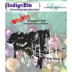 (IND0144PC)IndigoBlu Dramatic Eye A7 Rubber Stamps