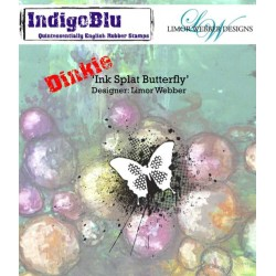 (IND0143PC)IndigoBlu Ink Splat Butterfly A7 Rubber Stamps