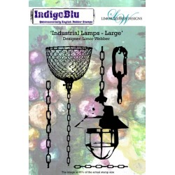 (IND0138PC)IndigoBlu Industrial Lamps Large A6 Rubber Stamp