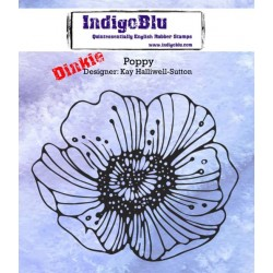 (IND0176)IndigoBlu Poppy A7 Rubber Stamps