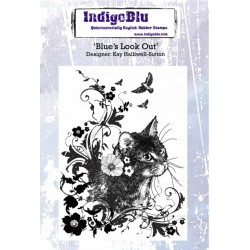 (IND0175)IndigoBlu Blues Look Out A6 Rubber Stamp