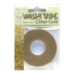 (61.1123)Washi tape glitter gold 10 mm x 10 m