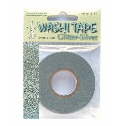 (61.1116)Washi tape glitter silver 10 mm x 10 m