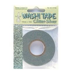 (61.1116)Washi tape glitter silver 10 mm x 10 m