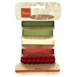 (JU0951)Marianne Design Christmas ribbons