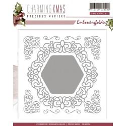 (PMEMB10004)Precious Marieke - Embossing Folder - Charming Xmas