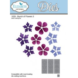 (SKU1029)Elizabeth Craft Design Die Bunch of Flowers 3