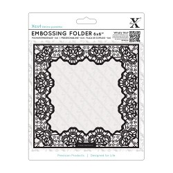 (XCU515908)Xpress embossing folder 15 x 15cm Lace Frame Delicate