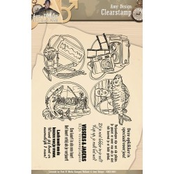 (ADCS10001)Clearstamp - Amy Design - Its a Mans World