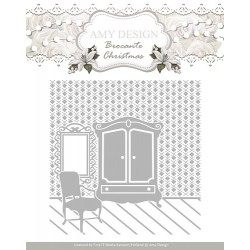 (ADEMB10003)Embossing Folder - Amy Design - Brocante Christmas