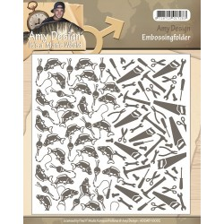 (ADEMB10002)Embossing Folder - Amy Design - Its a Mans World